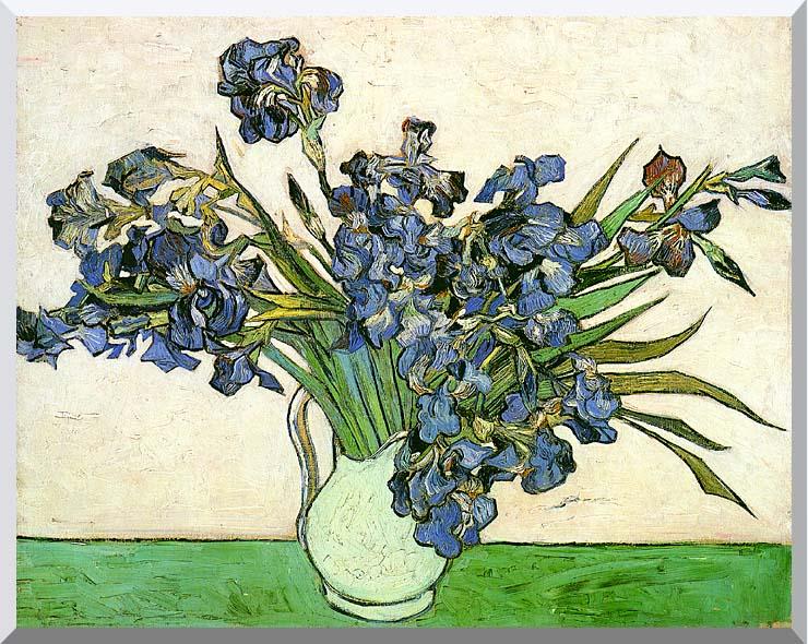 Vincent van Gogh Still Life: Vase with Irises stretched canvas art print