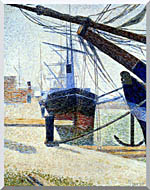 Georges Seurat The Harbor At Honfleur stretched canvas art