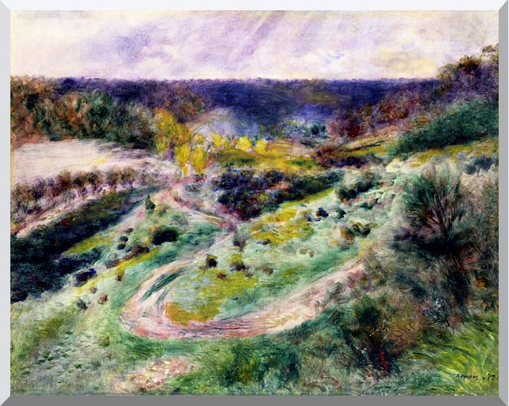 Pierre Auguste Renoir Road at Wargemont stretched canvas art print