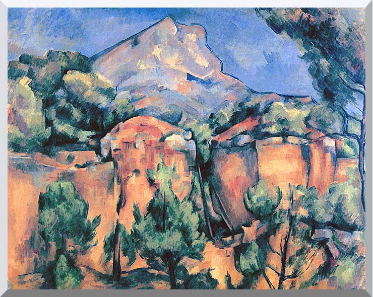 Paul Cezanne Mont Sainte-Victoire seen from Bibemus stretched canvas art print