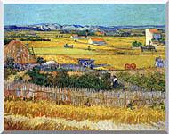 Vincent Van Gogh Harvest At La Crau stretched canvas art