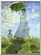 Claude Monet Woman With A Parasol stretched canvas art