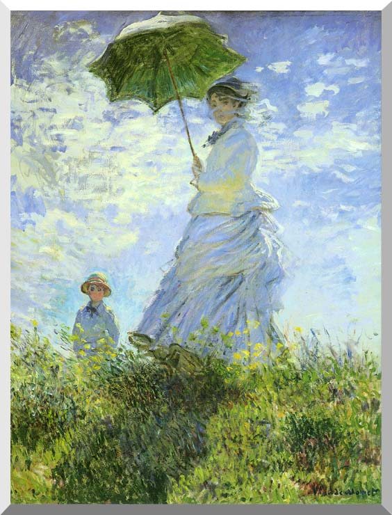 Claude Monet Woman with a Parasol stretched canvas art print