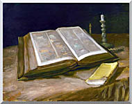 Vincent Van Gogh Still Life With Open Bible stretched canvas art