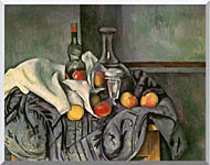 Paul Cezanne Still Life With Peppermint Bottle stretched canvas art
