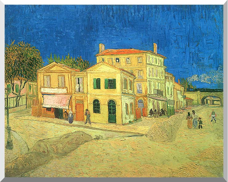 Vincent van Gogh Vincent's House in Arles stretched canvas art print