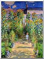 Claude Monet The Artists Garden At Vetheuil stretched canvas art