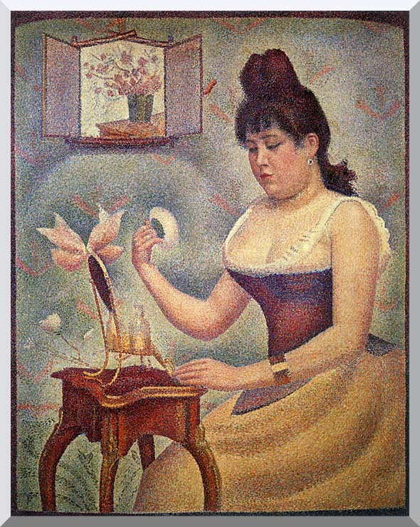 Georges Seurat Young Woman Powdering Herself stretched canvas art print