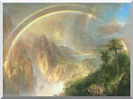 Frederic Edwin Church Rainy Season In The Tropics Detail stretched canvas art