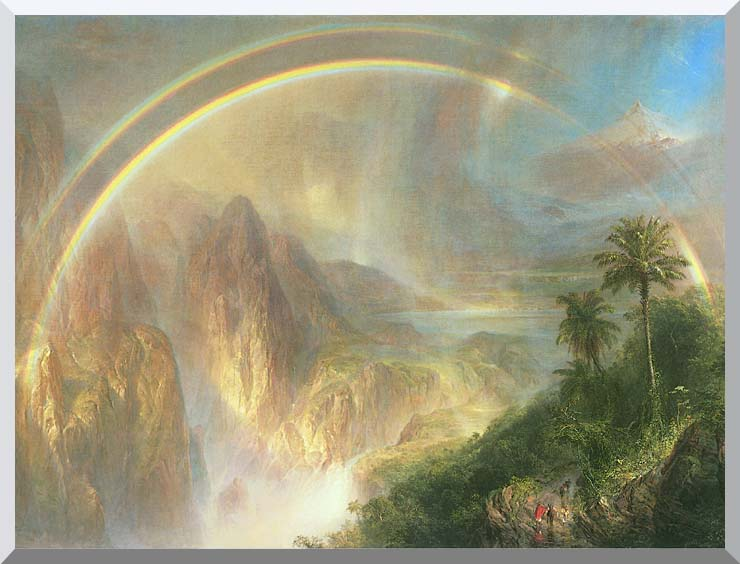 Frederic Edwin Church Rainy Season in the Tropics (detail) stretched canvas art print
