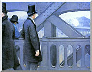 Gustave Caillebotte The Europe Bridge stretched canvas art