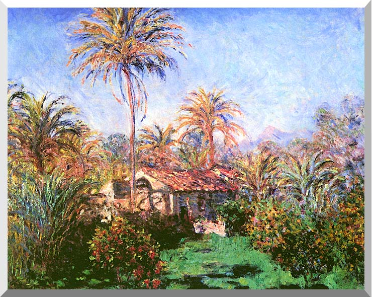 Claude Monet Palm Trees at Bordighera stretched canvas art print