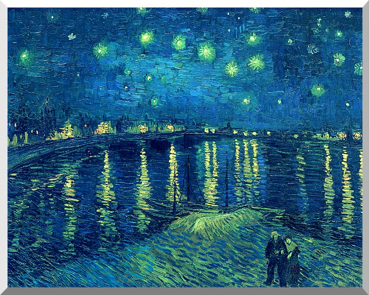 Vincent van Gogh Starry Night over the Rhone stretched canvas art print