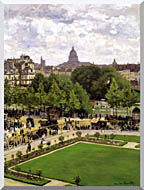 Claude Monet Garden Of The Princess Louvre stretched canvas art