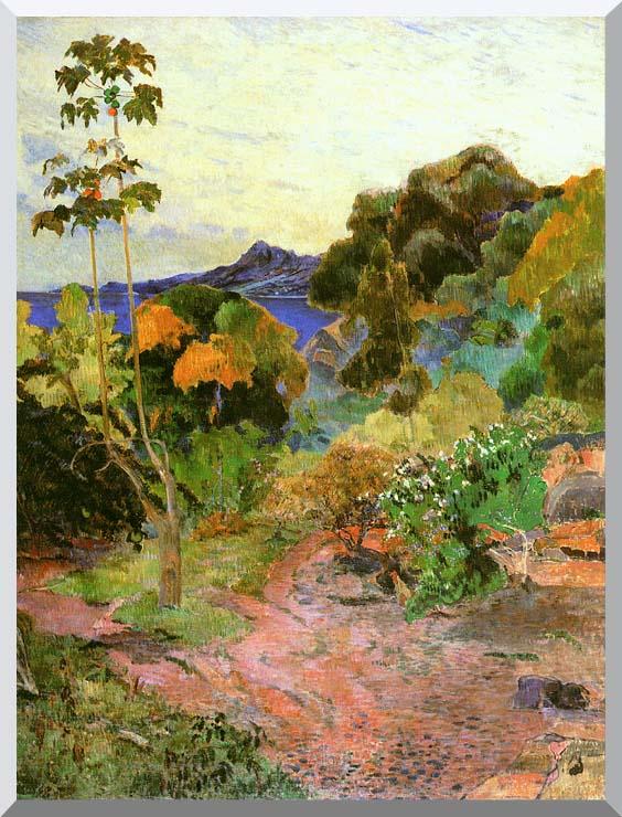 Paul Gauguin Martinique Landscape stretched canvas art print