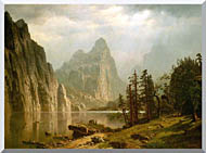 Albert Bierstadt Merced River Yosemite Valley stretched canvas art