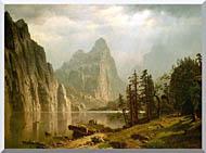 Albert Bierstadt Merced River Yosemite Valley stretched canvas art
