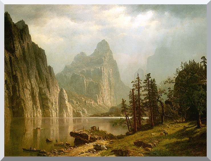 Albert Bierstadt Merced River, Yosemite Valley stretched canvas art print