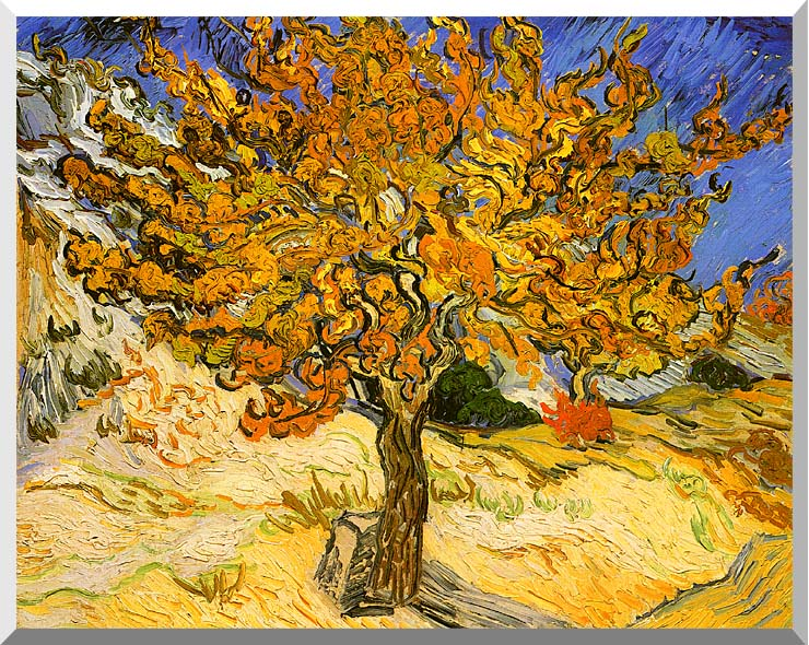 Vincent van Gogh Mulberry Tree stretched canvas art print