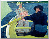 Mary Cassatt The Boating Party stretched canvas art