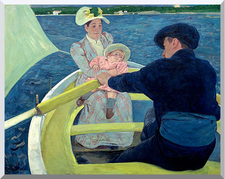 Mary Cassatt The Boating Party stretched canvas art print