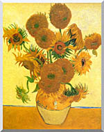 Vincent Van Gogh Still Life Vase With Fourteen Sunflowers stretched canvas art