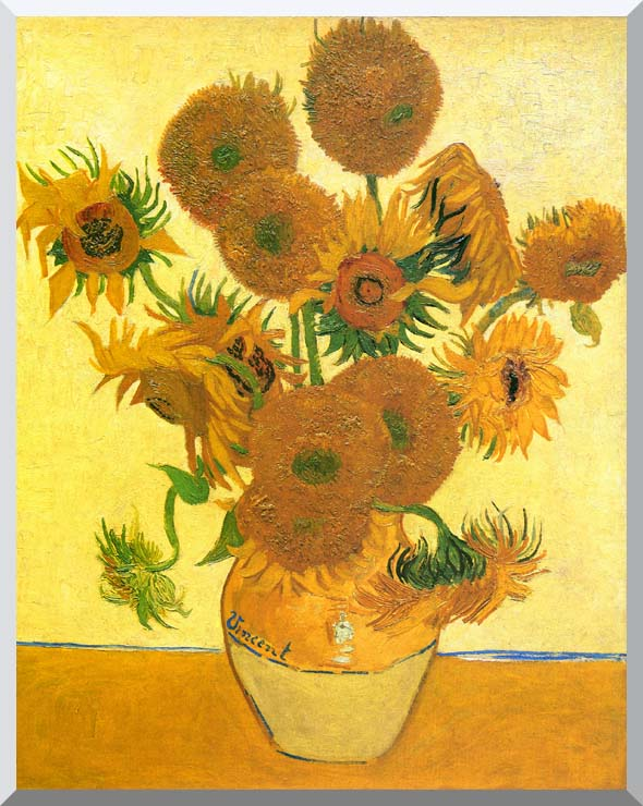 Vincent van Gogh Still Life: Vase with Fourteen Sunflowers stretched canvas art print