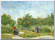 Vincent Van Gogh Courting Couples In A Public Park In Asnieres stretched canvas art