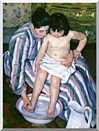 Mary Cassatt The Bath stretched canvas art