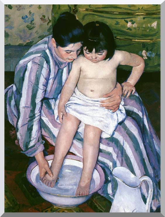 Mary Cassatt The Bath stretched canvas art print