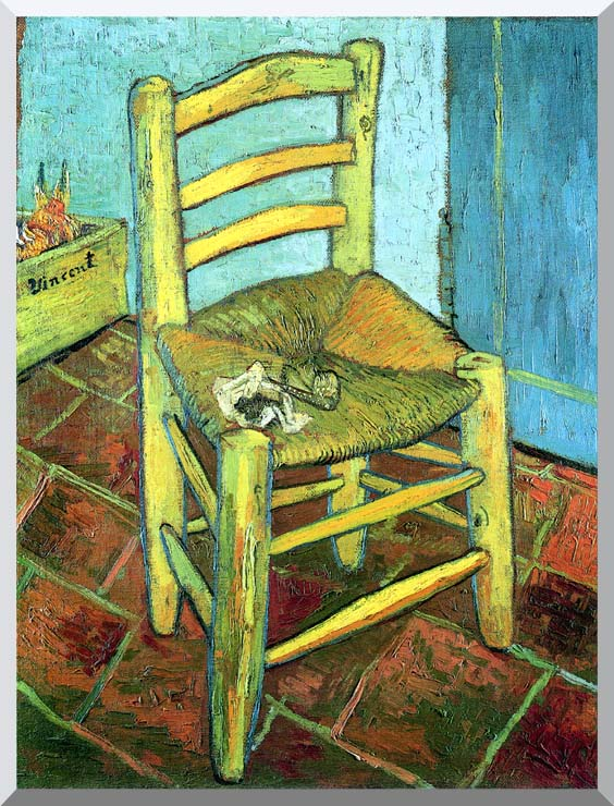 Vincent van Gogh Vincent's Chair with His Pipe stretched canvas art print