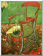 Vincent Van Gogh Paul Gauguins Armchair stretched canvas art