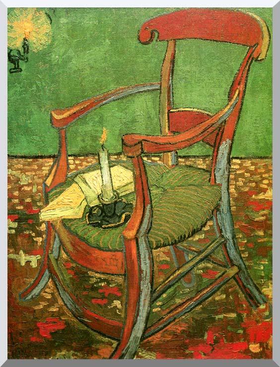 Vincent van Gogh Paul Gauguin's Armchair stretched canvas art print