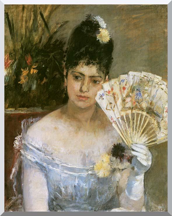 Berthe Morisot At the Ball stretched canvas art print