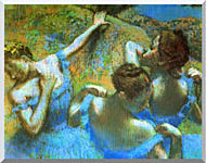 Edgar Degas Blue Dancers Detail stretched canvas art