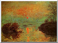 Claude Monet Sunset On The Seine At Lavacourt Winter Effect stretched canvas art
