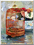 Berthe Morisot The Cage stretched canvas art