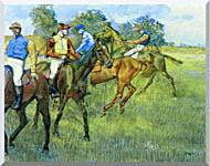 Edgar Degas Race Horses stretched canvas art