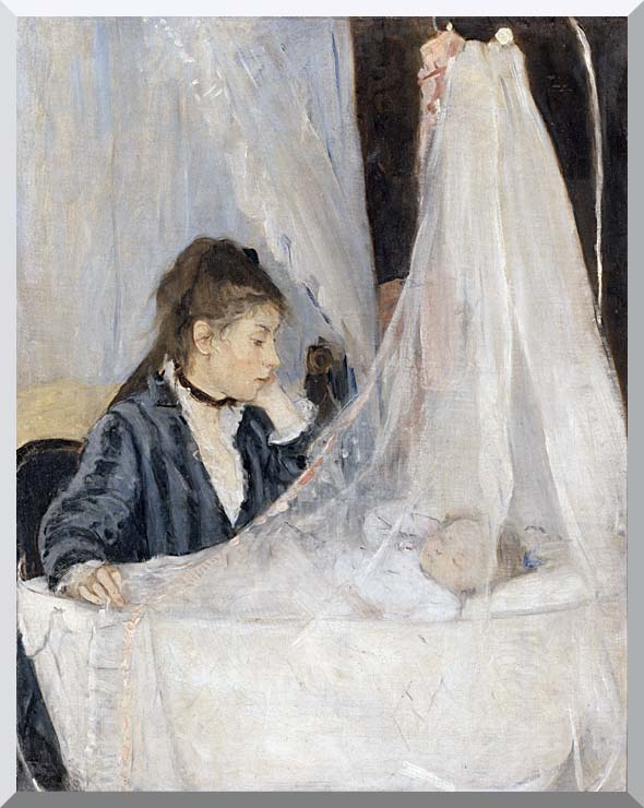 Berthe Morisot The Cradle stretched canvas art print