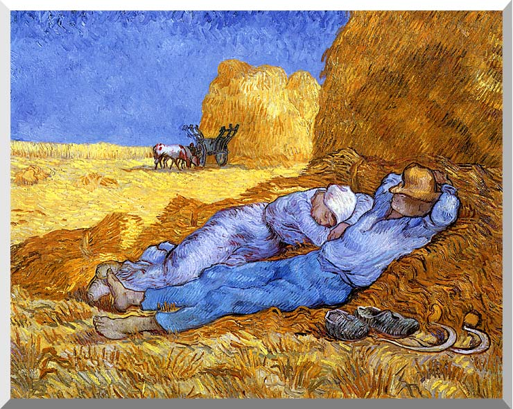 Vincent van Gogh Noon: Rest from Work stretched canvas art print