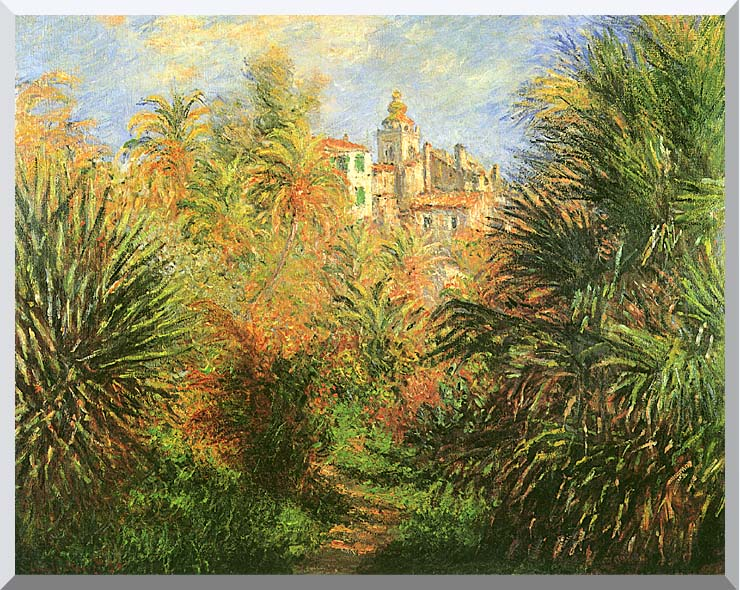 Claude Monet Gardens at Bordighera stretched canvas art print