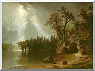 Albert Bierstadt Passing Storm Over The Sierra Nevadas stretched canvas art