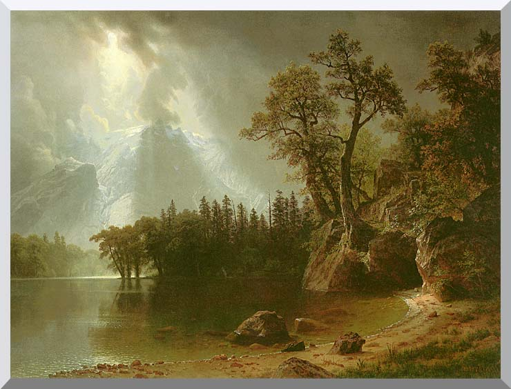 Albert Bierstadt Passing Storm Over the Sierra Nevadas stretched canvas art print