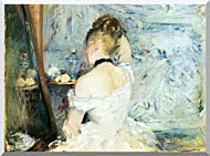 Berthe Morisot Lady At Her Toilette stretched canvas art