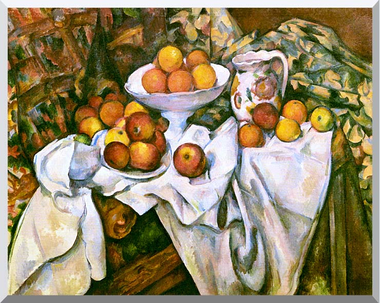 Paul Cezanne Still Life with Apples and Oranges stretched canvas art print