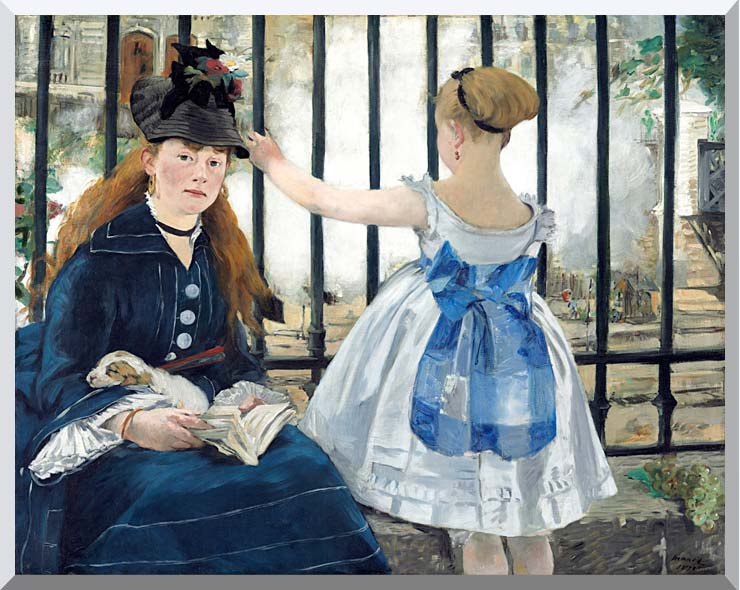 Edouard Manet Gare Sainte-Lazare stretched canvas art print
