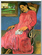 Paul Gauguin The Dreamer stretched canvas art