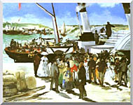Edouard Manet The Departure Of The Folkestone Boat stretched canvas art