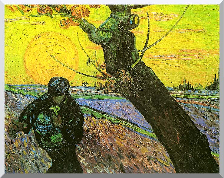 Vincent van Gogh The Sower 1888 stretched canvas art print