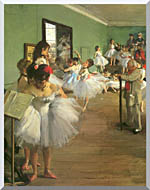 Edgar Degas The Dance Class stretched canvas art